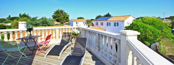 Terrasse du meilleur hôtel de Vendée