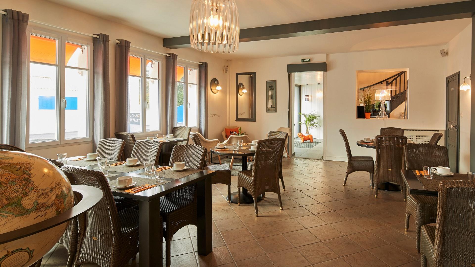 salle restaurant de l'hotel en vendée